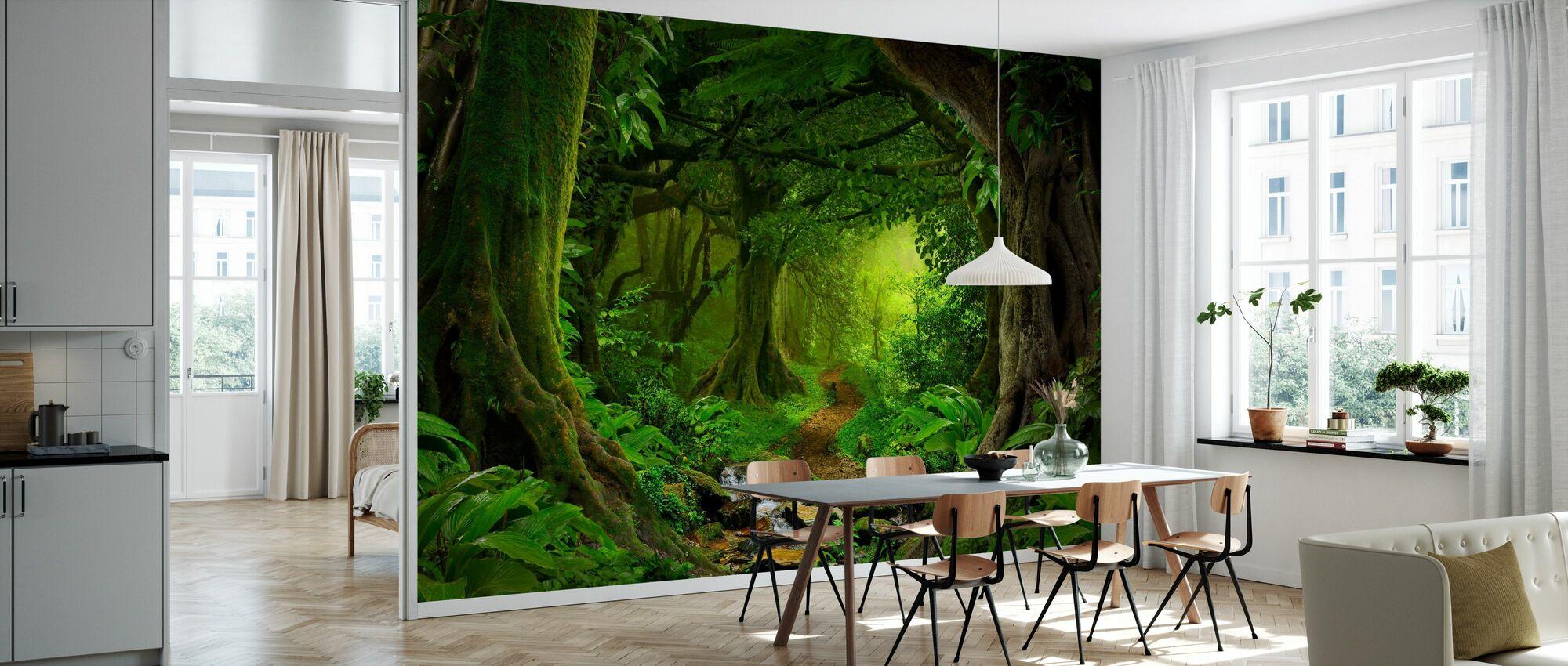 Tropischer Dschungel - Tapete - Küchen