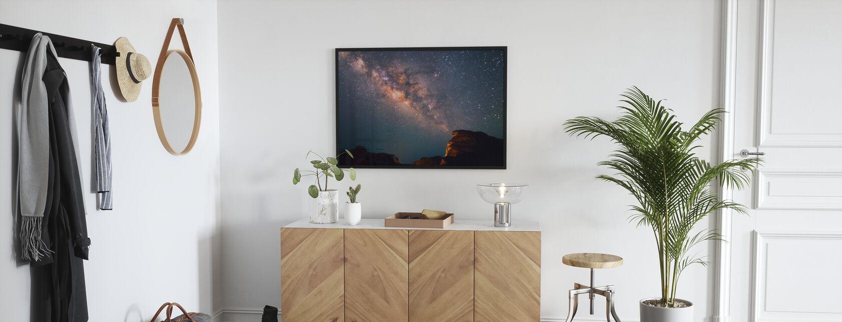 Stjärnor ovanför Grand Canyon - Inramad tavla - Hall
