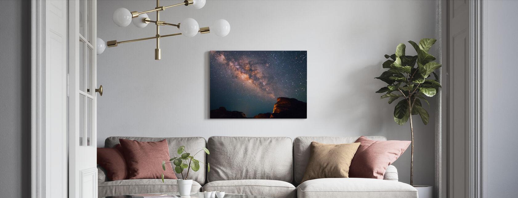Stjerner over Grand Canyon - Lerretsbilde - Stue