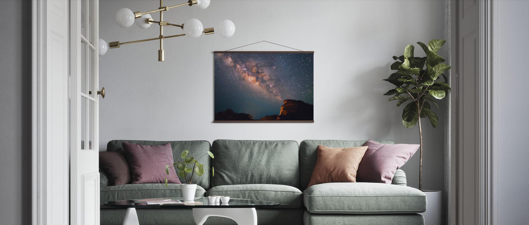 Stjärnor ovanför Grand Canyon - Poster - Vardagsrum