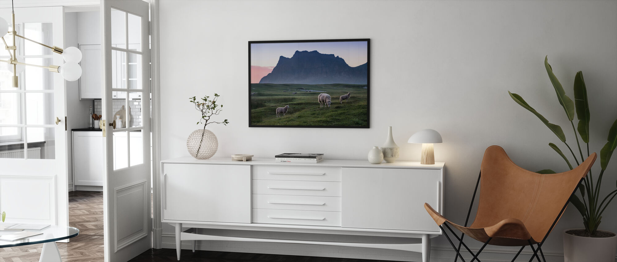 Lambs Pastures in Meadow - Poster - Living Room
