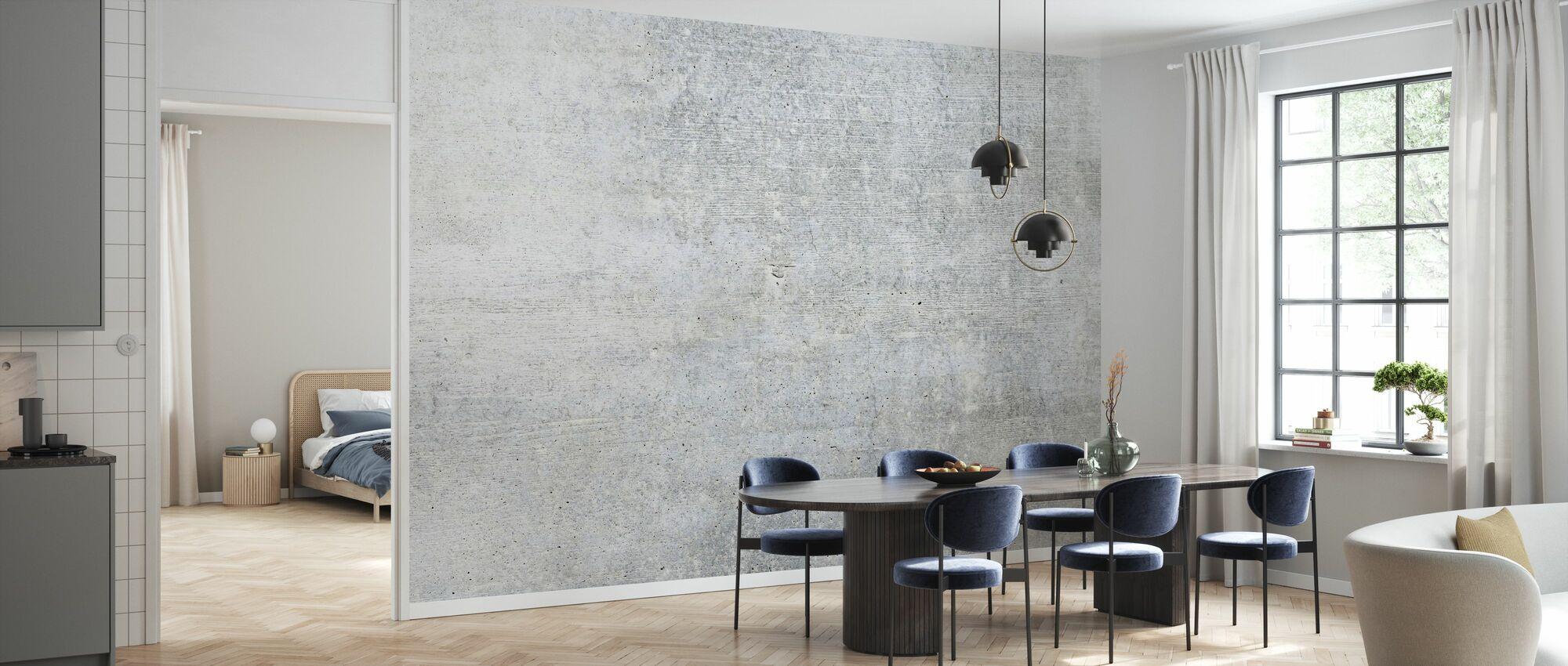 Oude grijze betonnen muur - Behang - Keuken
