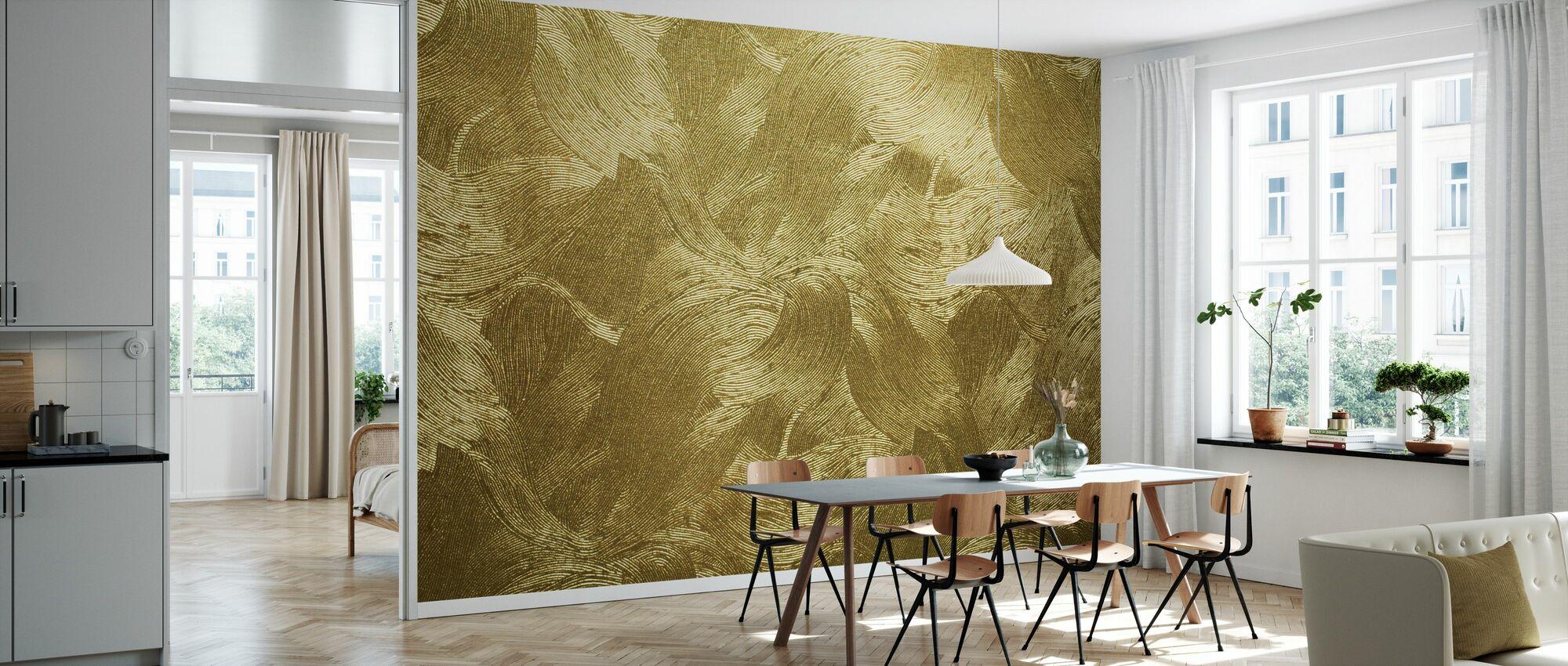 Golden Washi Paper - Wallpaper - Kitchen