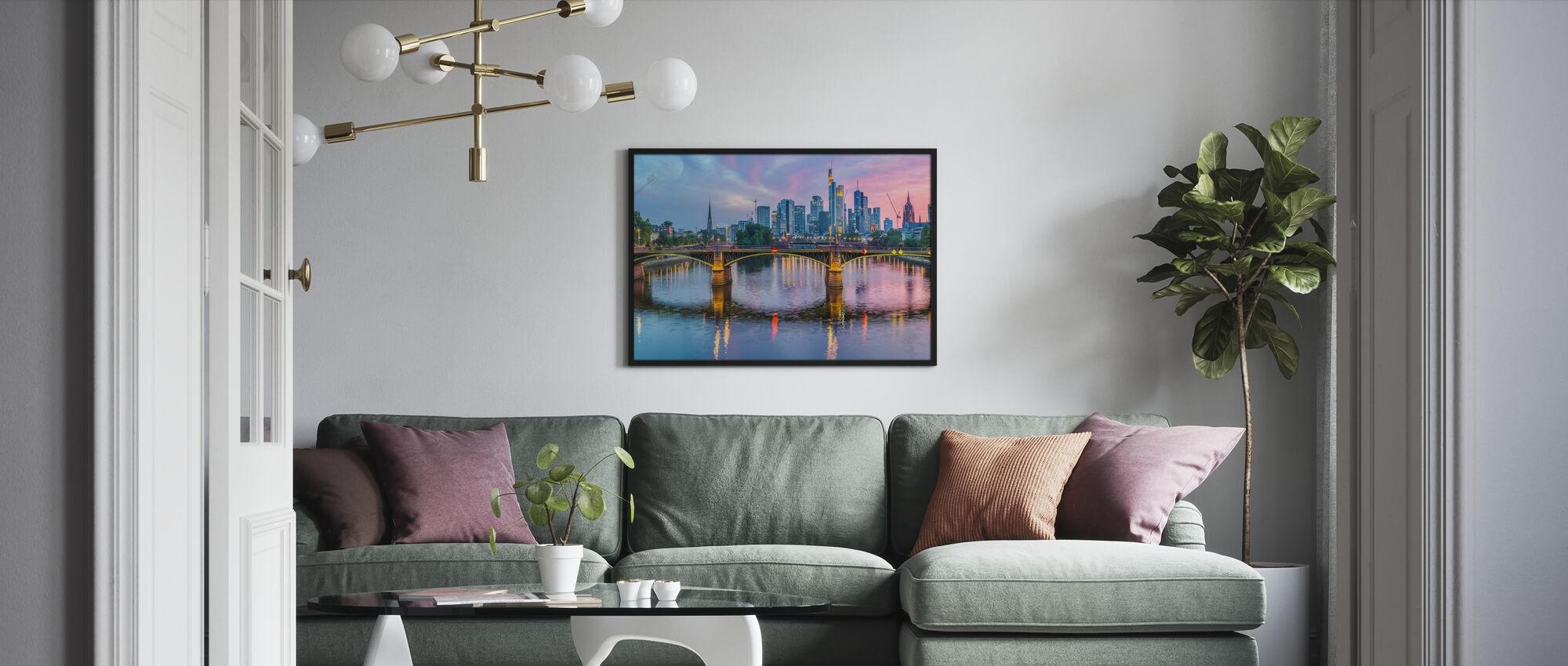 Skyline Frankfurt at Sunset - Poster - Living Room