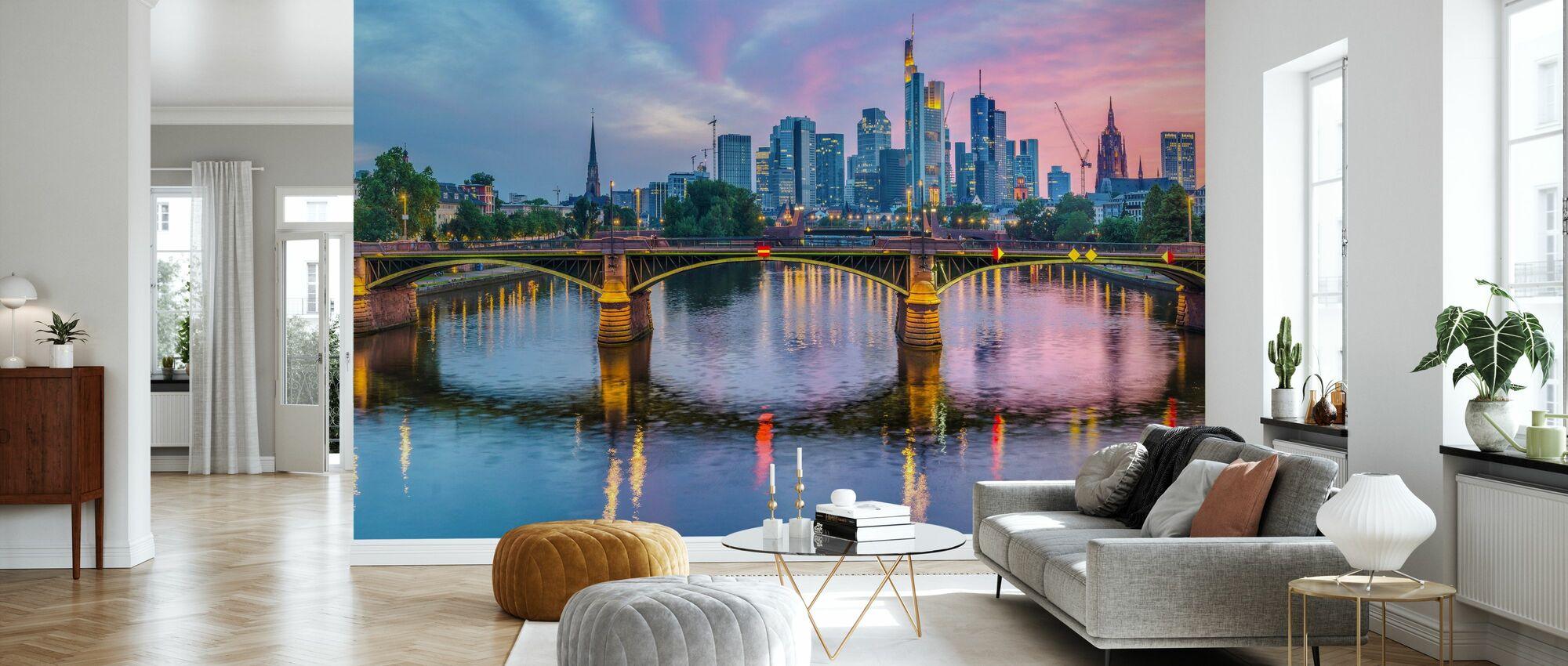 Skyline Frankfurt at Sunset - Wallpaper - Living Room
