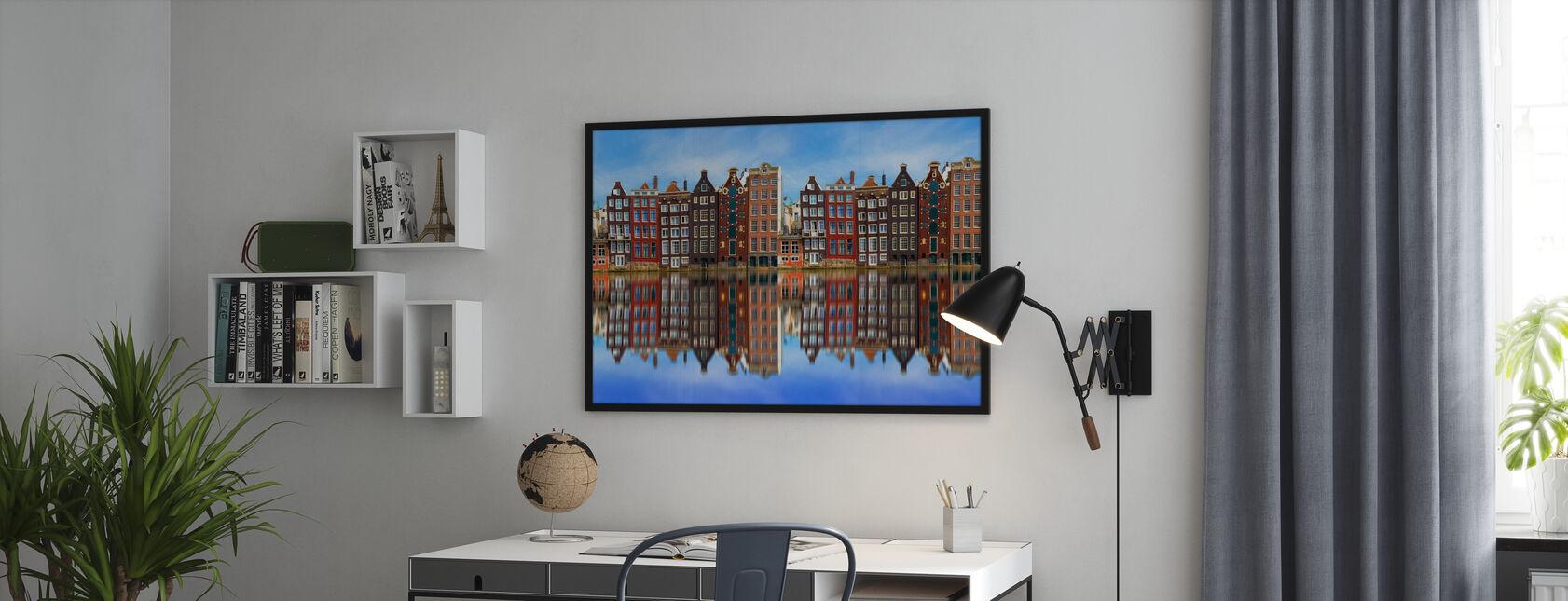 Oude Amsterdamse Huizen - Poster - Kantoor