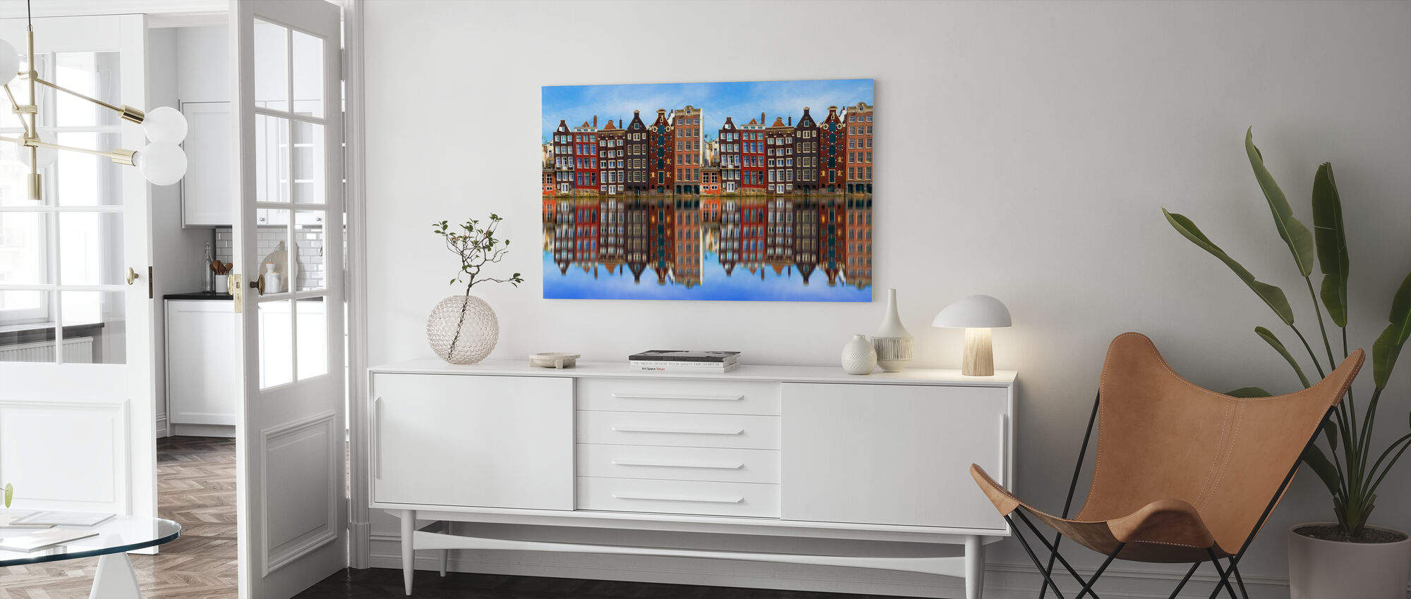 Old Amsterdam Houses - Canvas print - Living Room