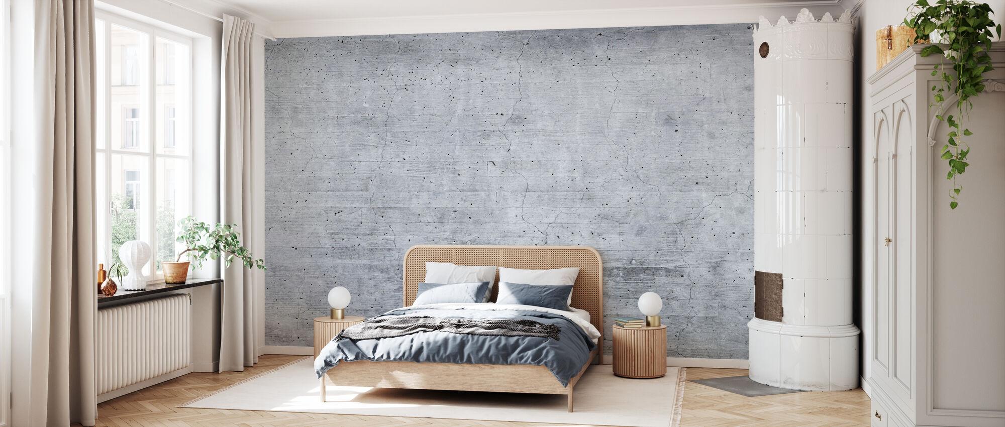 Alte graue Zementmauer - Tapete - Schlafzimmer