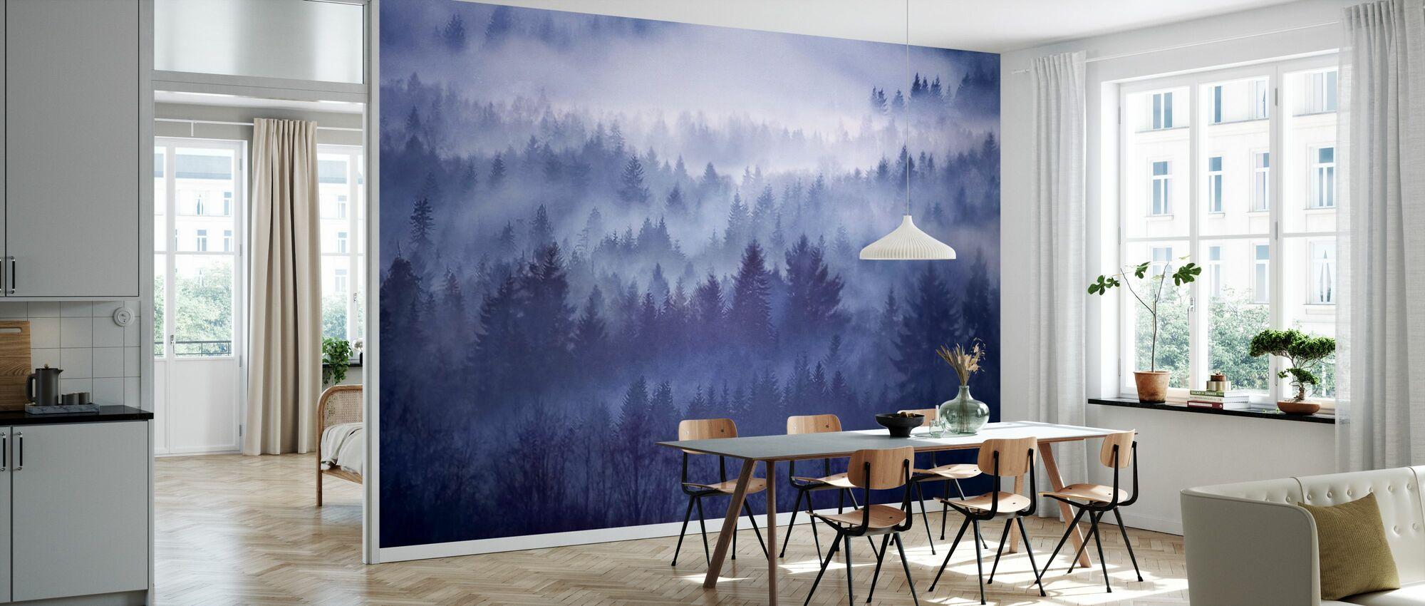 Foggy Forest i Norge - Tapet - Kjøkken