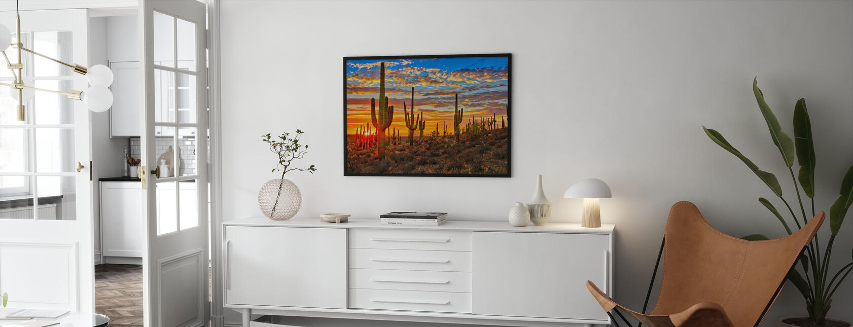 Sunset Desert - Framed print - Living Room