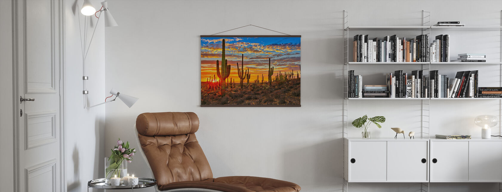Sunset Desert - Poster - Living Room