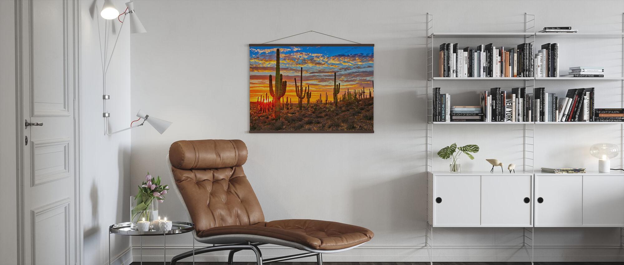 Sunset Desert - Poster - Living Room