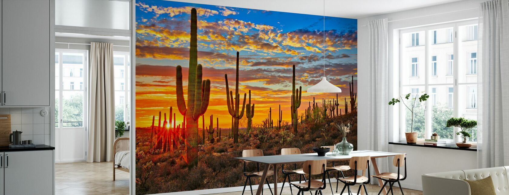 Sunset Desert - Wallpaper - Kitchen