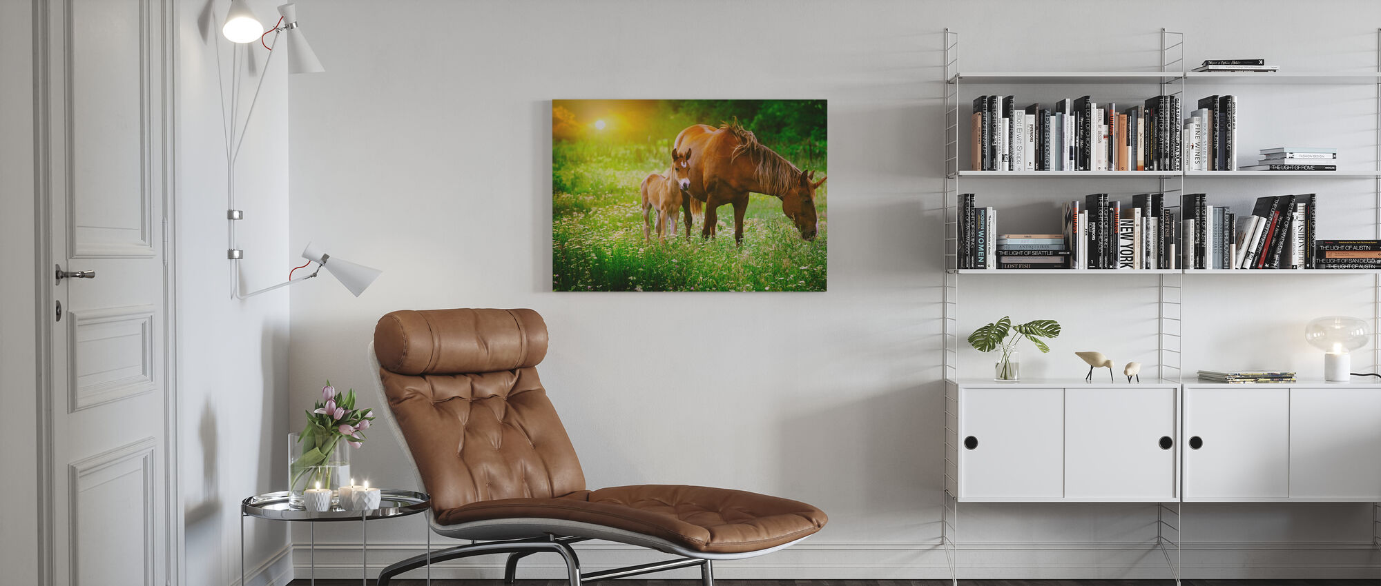 Mare and Foal Unicorn - Canvas print - Living Room