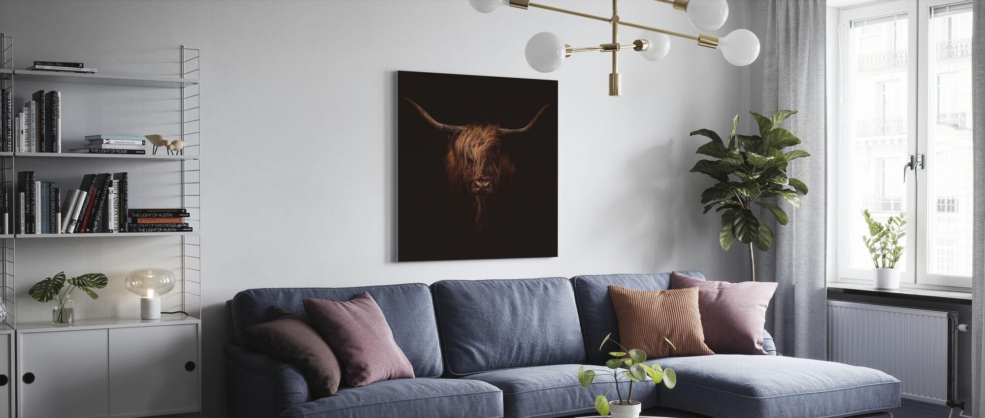 Skotsk höglandsboskap - Canvastavla - Vardagsrum