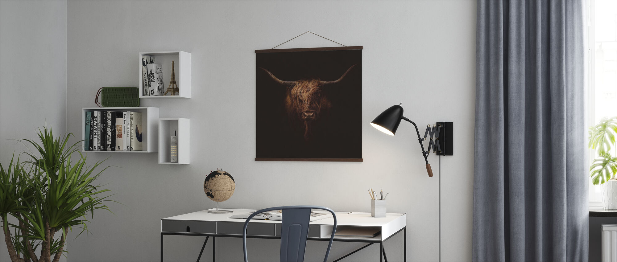 Scottish Highland Cattle - Poster - Office