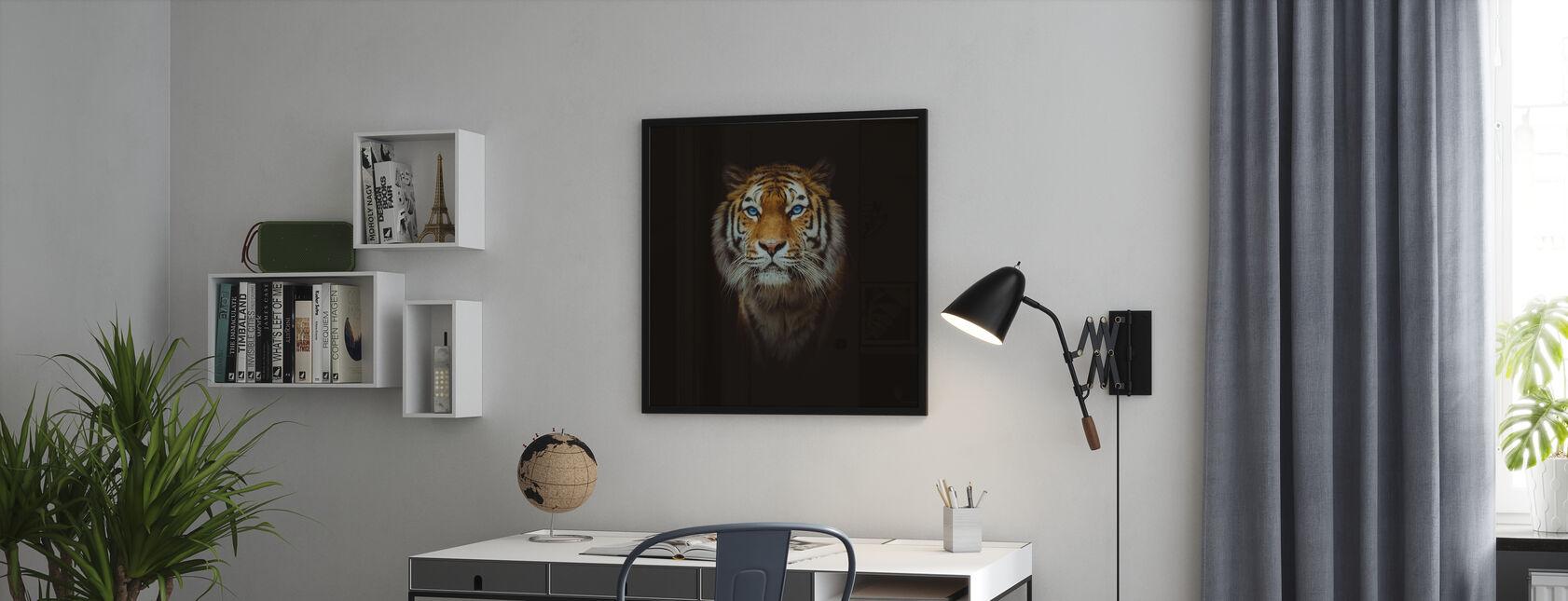 Eye of the Tiger - Framed print - Office