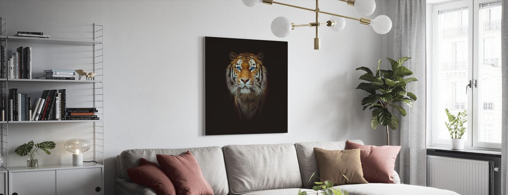 Tigerns öga - Canvastavla - Vardagsrum