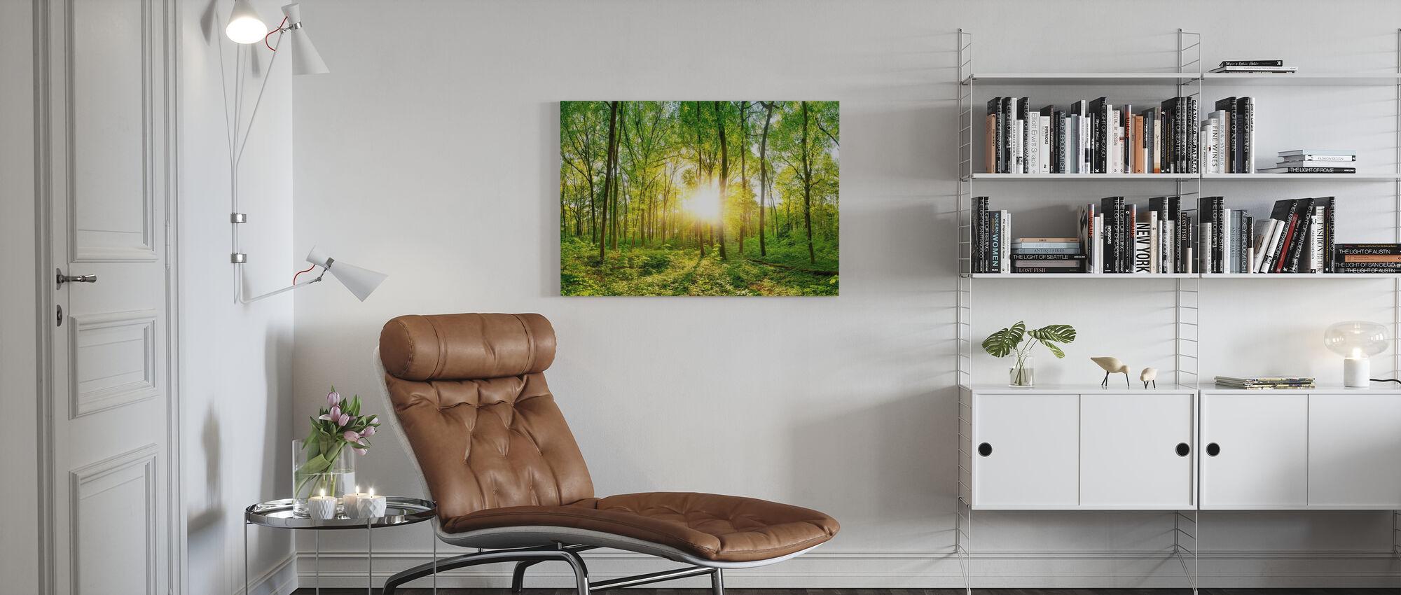 Skog soluppgång - Canvastavla - Vardagsrum