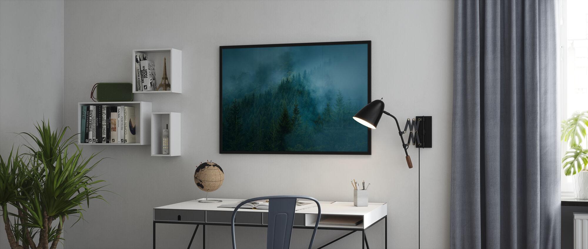 Forêt brumeuse - Affiche - Bureau