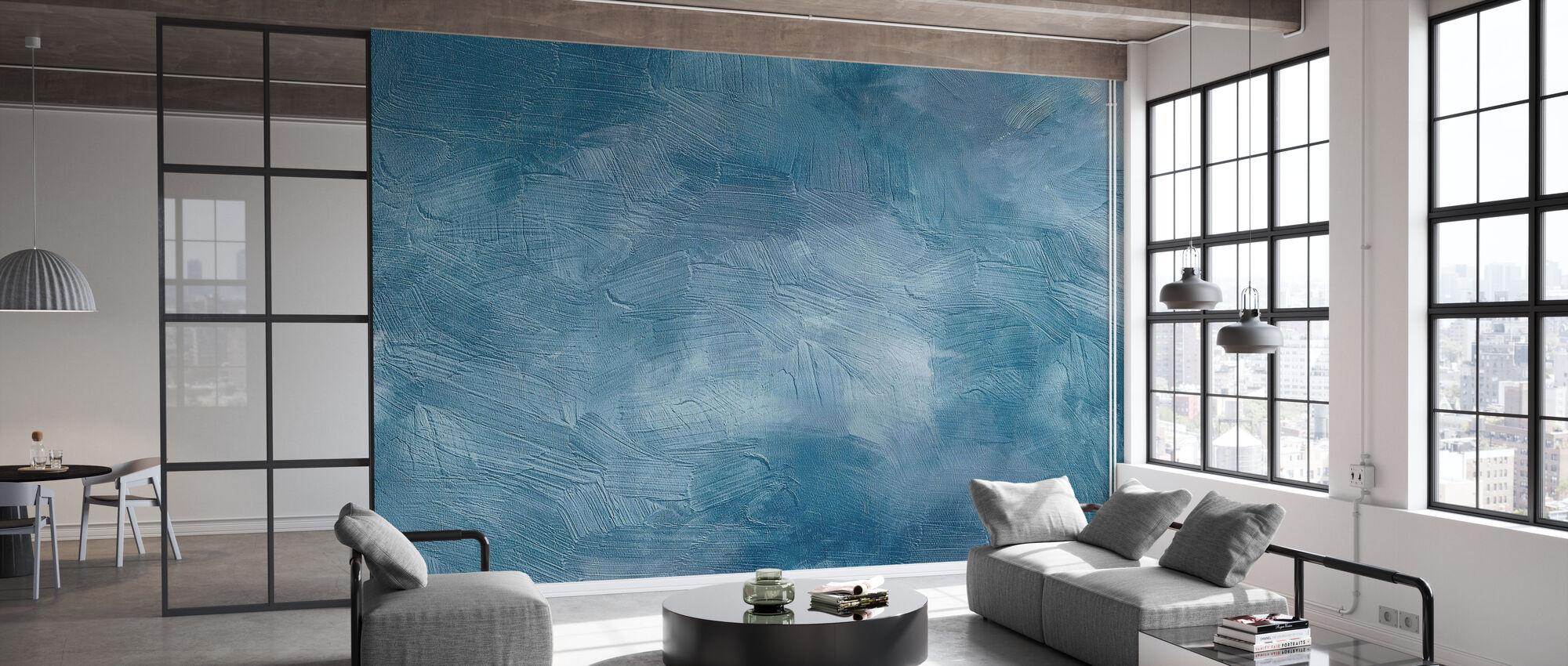 Abstrakti sininen - Tapetti - Toimisto