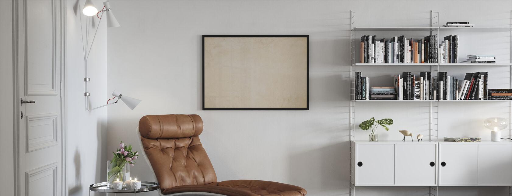 Cream Betonde muur - Poster - Woonkamer