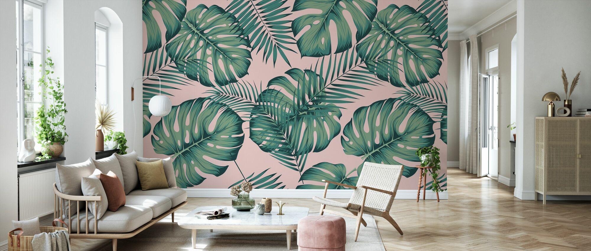 Monstera and Areca - Wallpaper - Living Room