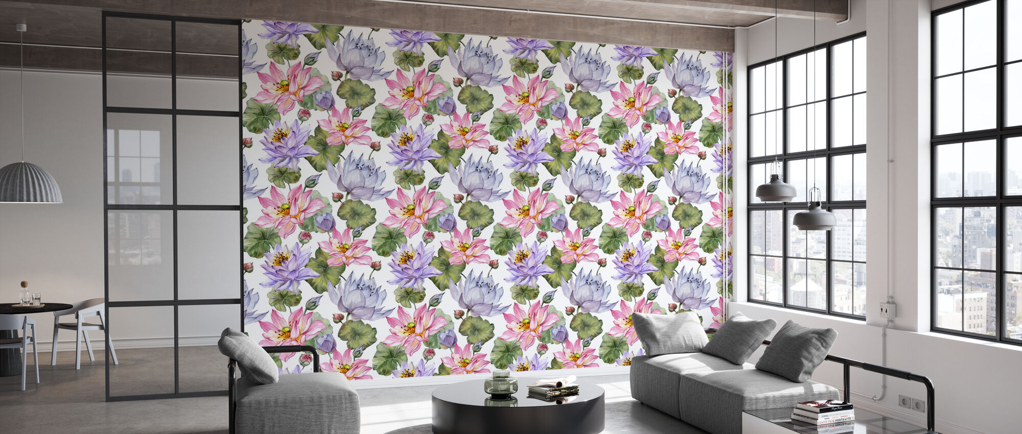 Lotus Floral - Wallpaper - Office