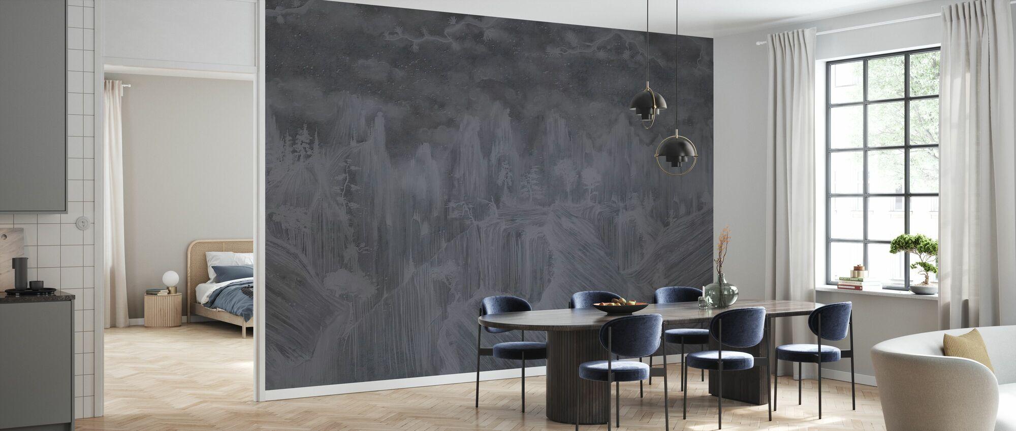 Itämainen betoni - tumma - Tapetti - Keittiö