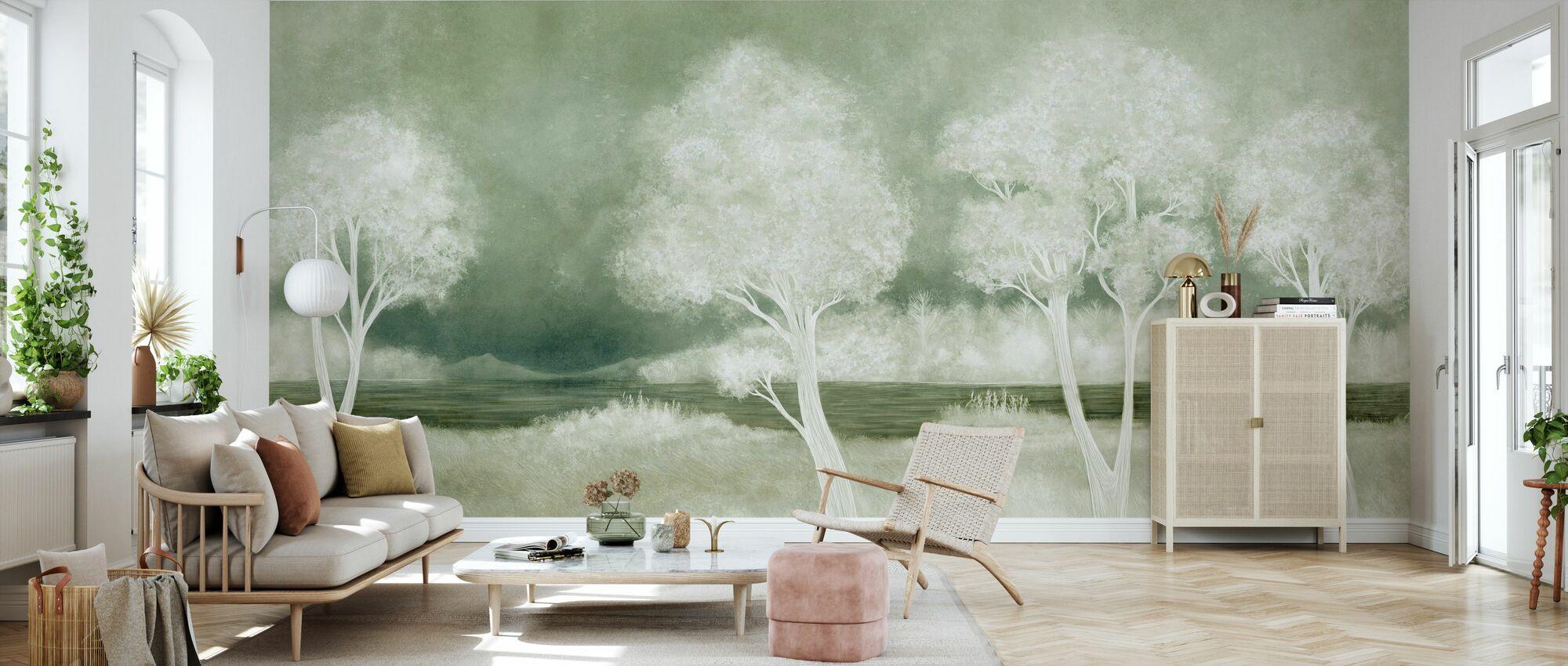 Bonny Paesaggio - Salvia - Carta da parati - Salotto