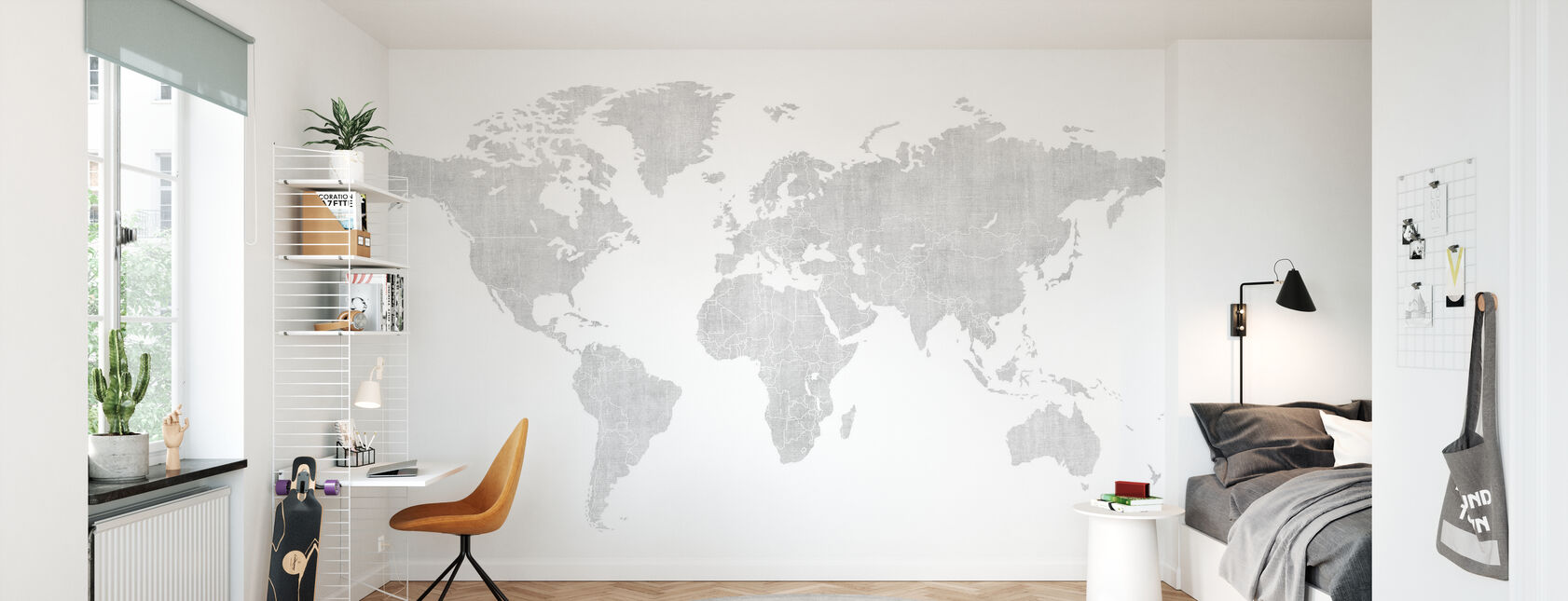 Voguish World Kartta - Kirkas - Tapetti - Lastenhuone