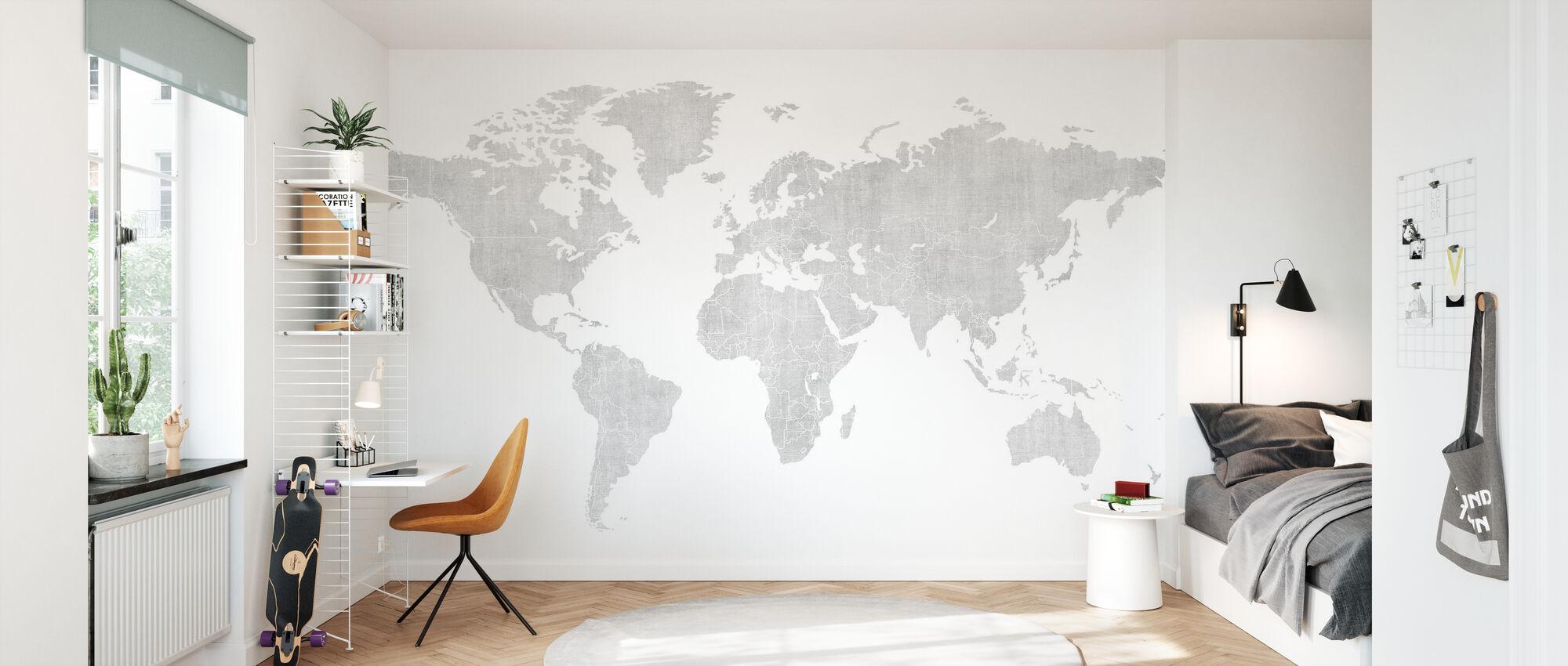 Voguish Weltkarte - Bright - Tapete - Kinderzimmer