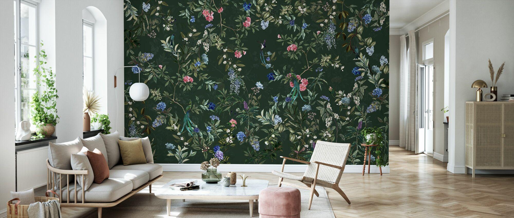 Magic Forest - Green - Wallpaper - Living Room