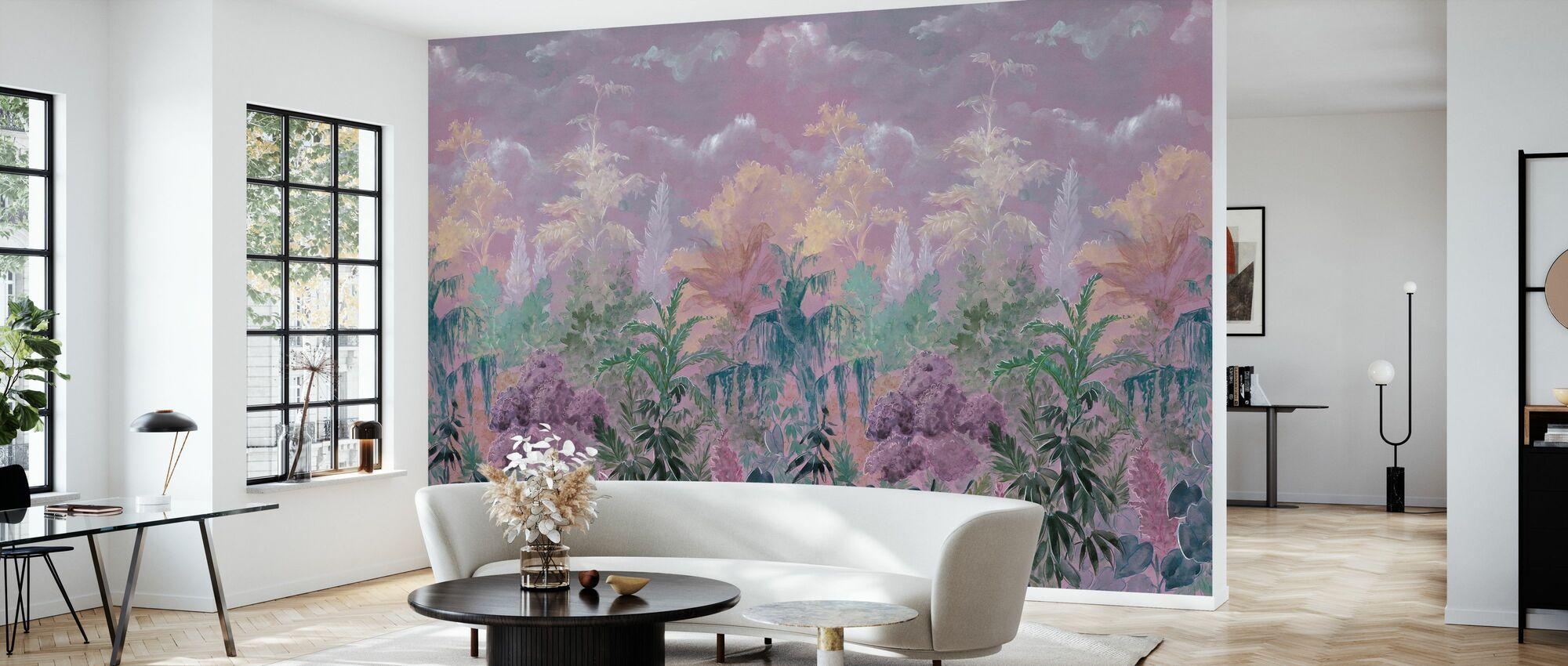 Blühende Vegetation - Tapete - Wohnzimmer