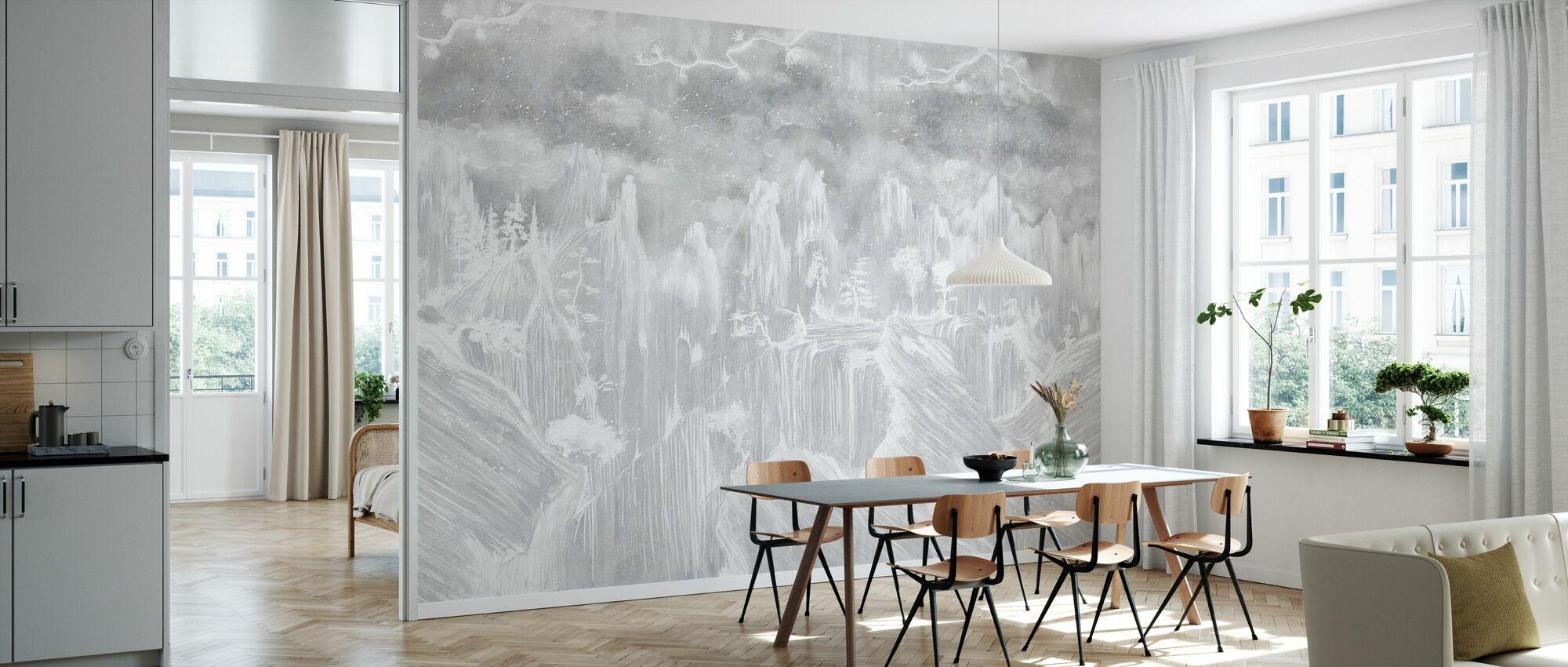 Orientalisk betong - ljus - Tapet - Kök