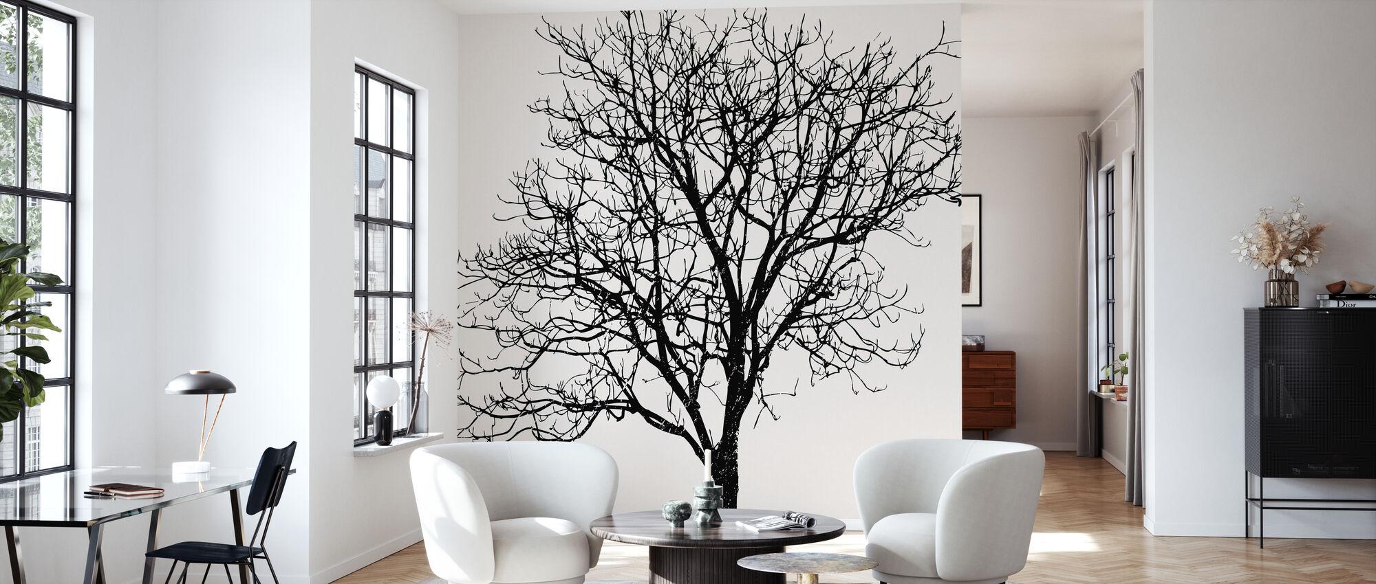 Black Birch - Wallpaper - Living Room