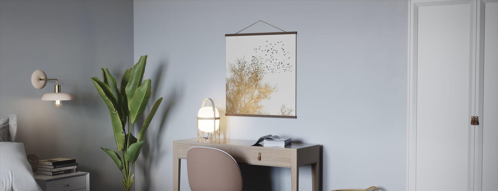 Goldene Vögel - Poster - Büro