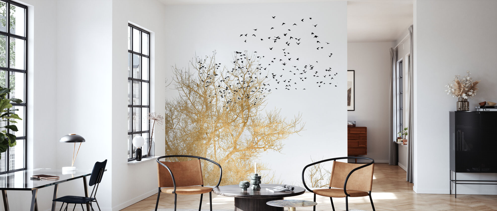 Golden Birds - Wallpaper - Living Room