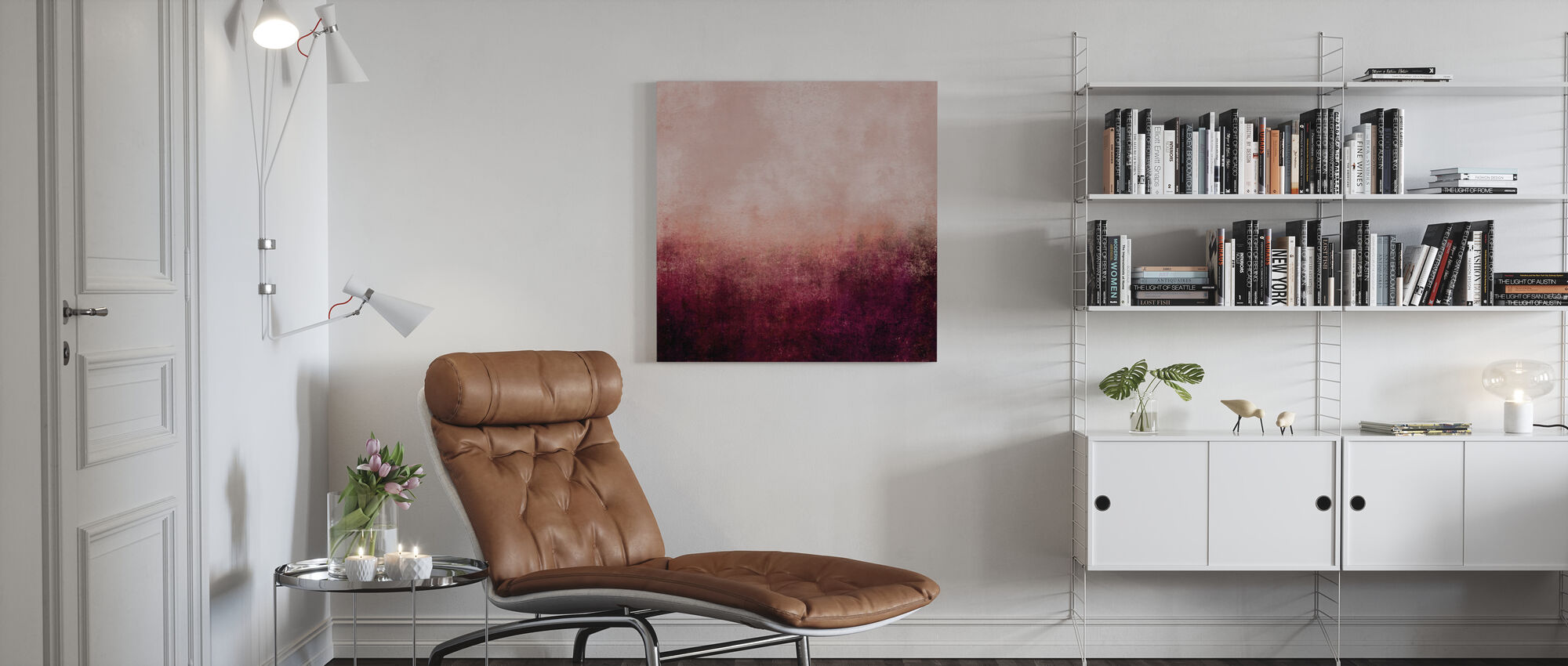 Life In Pink - Canvas print - Living Room