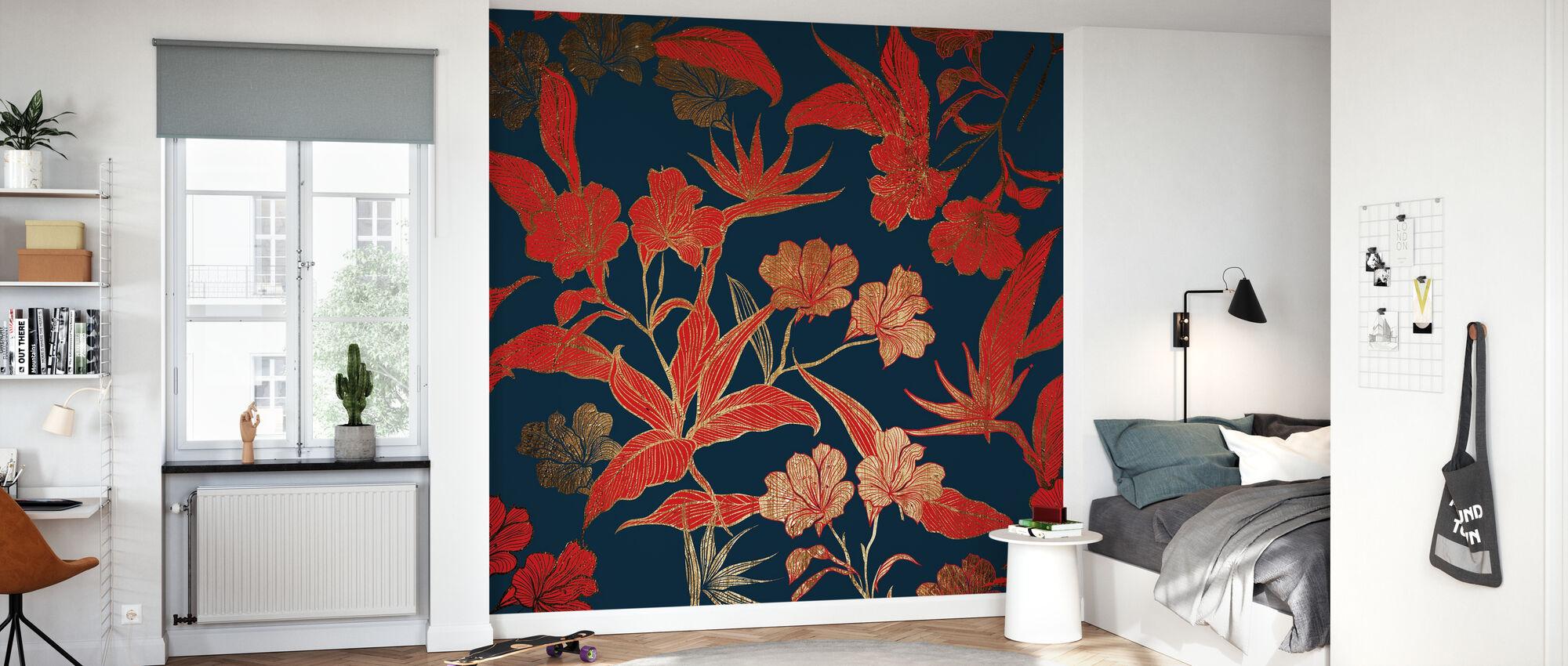 Paradise - dark - Wallpaper - Kids Room