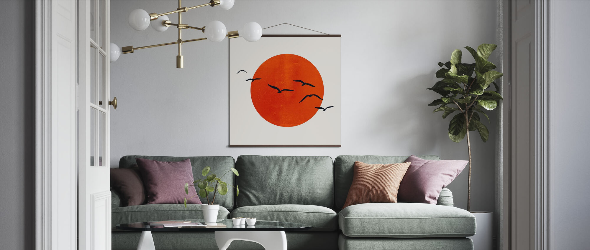 Up in the Sky - Poster - Living Room