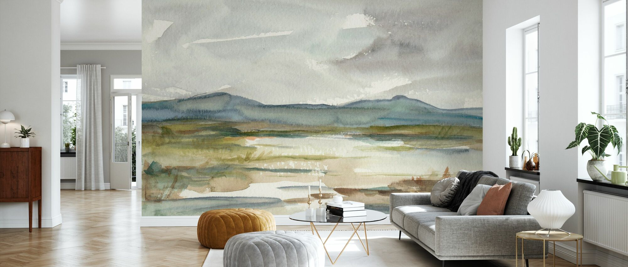 Overcast Wetland - Wallpaper - Living Room