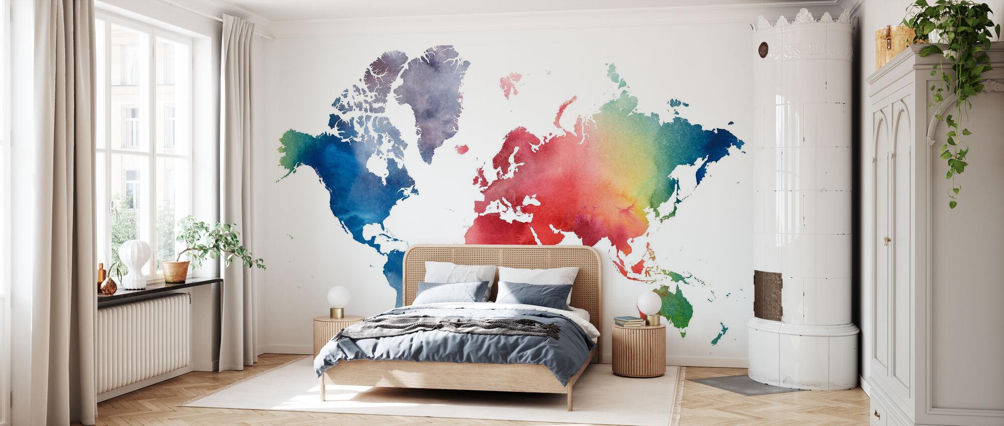Regenbogenwelt - Tapete - Schlafzimmer