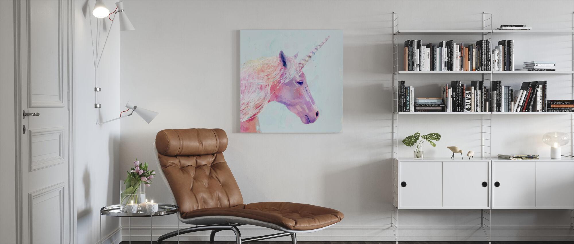 Mystieke Eenhoorn - Canvas print - Woonkamer