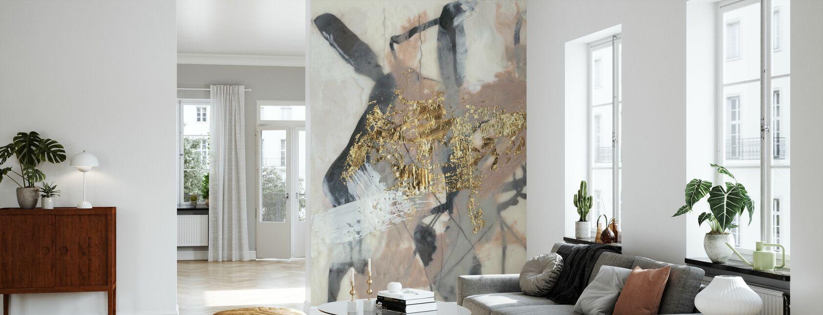Goldenes Rouge - Tapete - Wohnzimmer