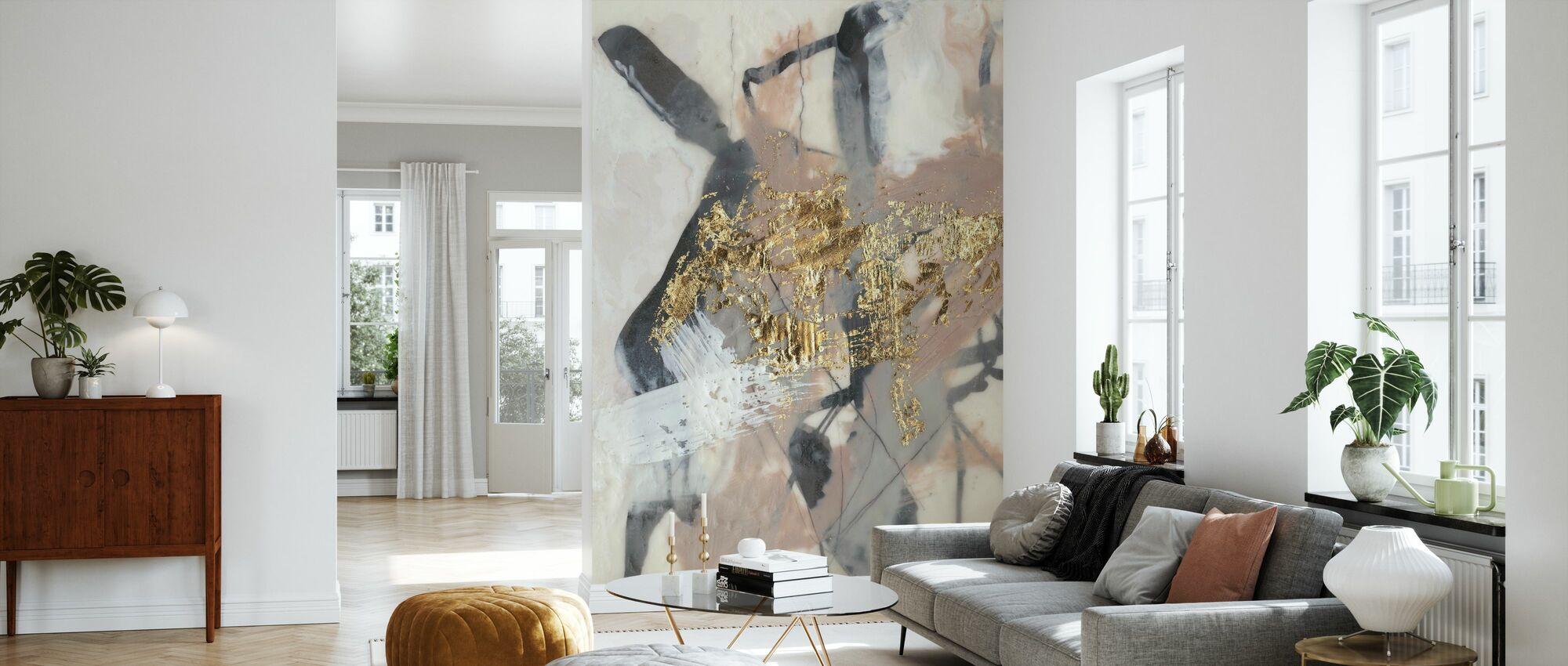 Golden Blush - Wallpaper - Living Room
