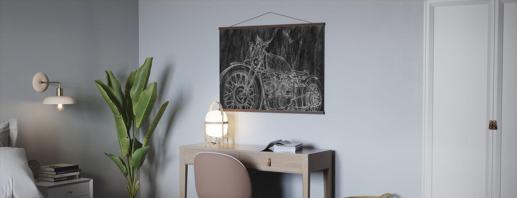 Motorcykel Skitse - Plakat - Kontor