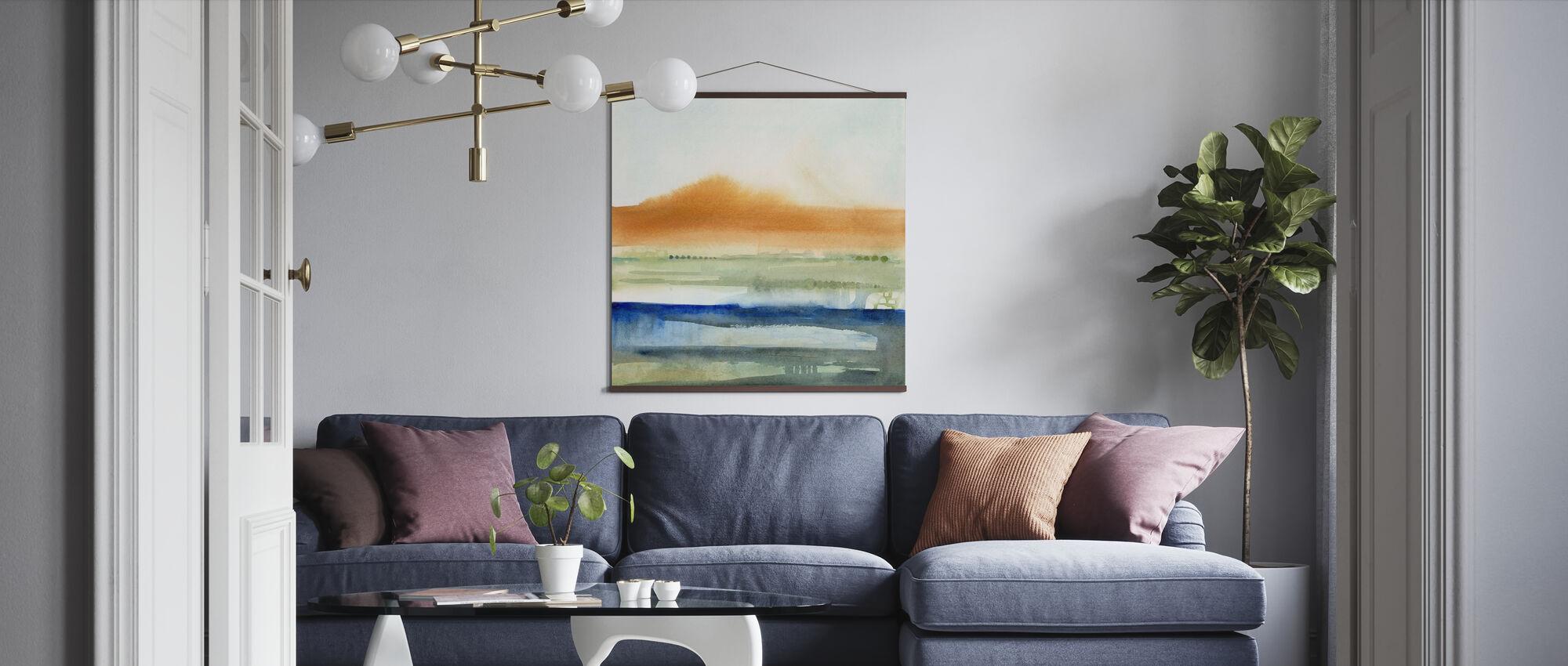 Sunwashed Strata - Poster - Living Room
