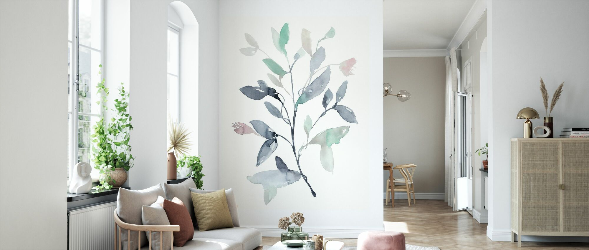 Water Branches - Wallpaper - Living Room