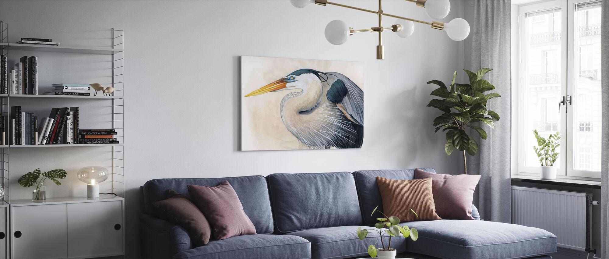 Blue Hunter - Canvas print - Living Room